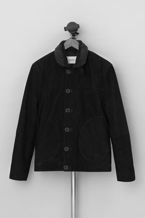 Load image into Gallery viewer, Derrek Deck Jacket Suede Black
