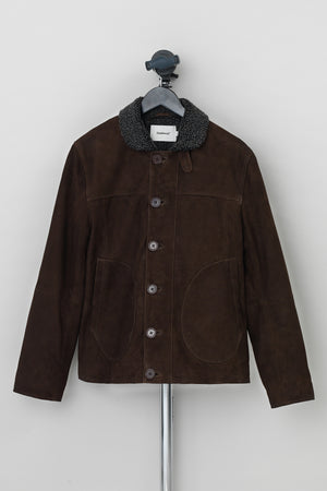 Load image into Gallery viewer, Derrek Deck Jacket Suede Brown