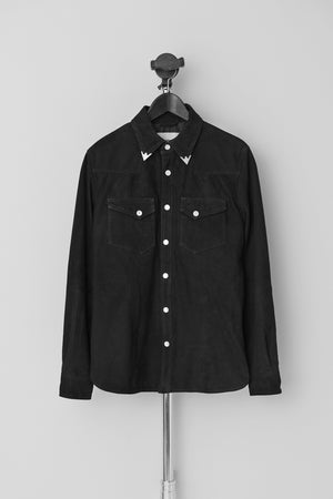 Load image into Gallery viewer, Men's Hellas Shirt Suede Black