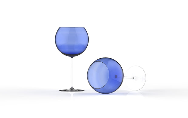 Red Wine Glass Blue
