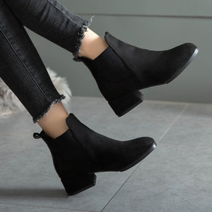 Ankle Square Heel Boots