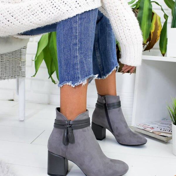 Fashion Zipper Boots