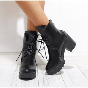 Handmade Women's Lace Up Boots