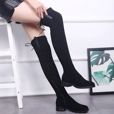 Over The Knee Lace Boots