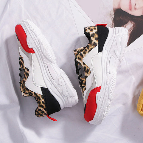 Leopard Mixed Color Sneakers