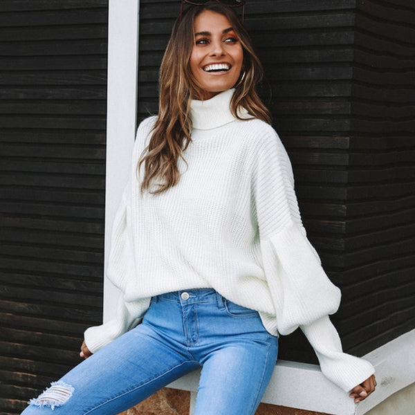 Turtleneck Long Sleeve Sweater