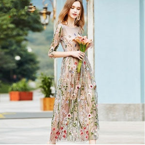 Runway Floral Bohemian Flower Dress