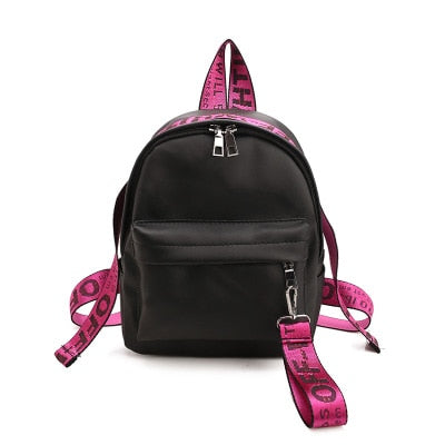 Preppy Style Letter Panelled Backpack