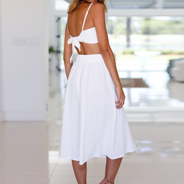 Lace Up Strapless two piece set