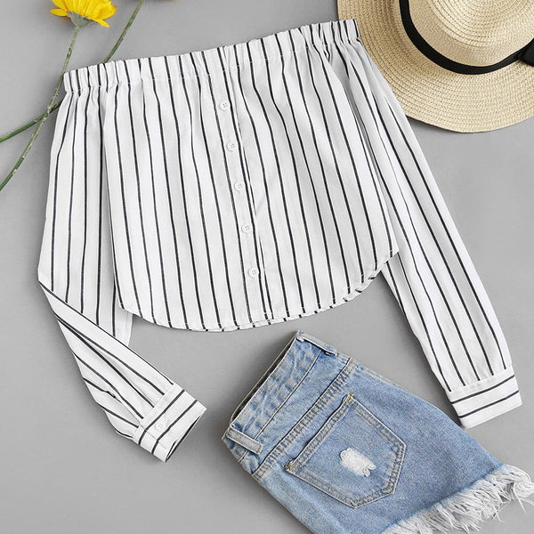 Long Sleeves Striped shirt