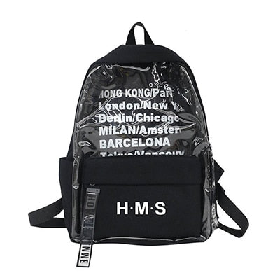 Clear Canvas Letter Backpacks