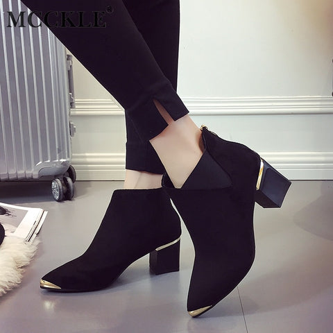 Women's Square Heels Boots