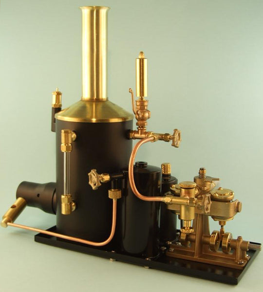 "4049W 3"" Vertical/Clyde Steam Plant - Assembled - with whistle"