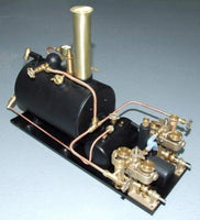 "4086 Custom Steam Plant: 4"" Boiler, Two Clyde Engines, Custom Engine Pitch"