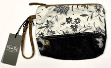 Load image into Gallery viewer, Floral & Hair-On Leather Myra Pouch