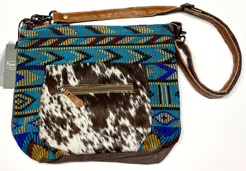 Tribal Hair-On Leather Myra Shoulder Bag
