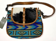 Load image into Gallery viewer, Blue Tribal Myra Crossbody Bag