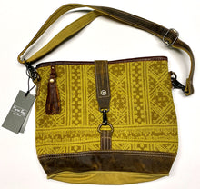 Load image into Gallery viewer, Yellow & Leather Myra Shoulder Bag