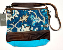 Load image into Gallery viewer, Teal Canvas Myra Crossbody Bag