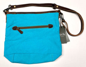 Teal Canvas Myra Crossbody Bag