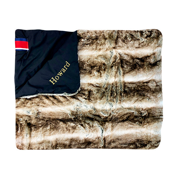 Amazon Luxe Faux Fur Toddler Sable Brown Blanket