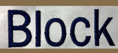 Chosen Font For Custom Embroidery