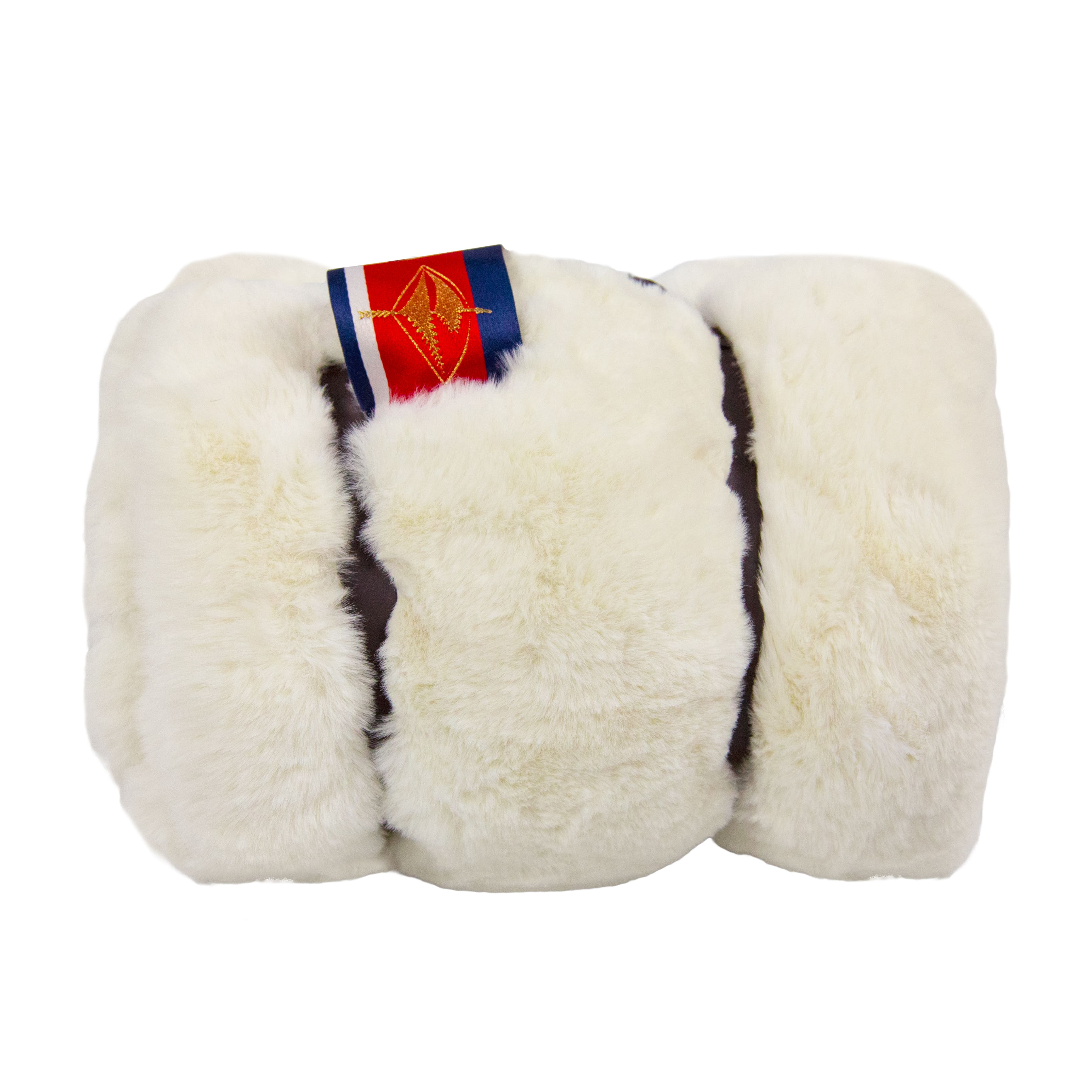 Amazon Luxe Faux Fur Pet Medium White Mink Blanket