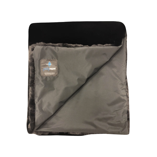 Luxe Faux Fur Toddler Black Mink Blanket