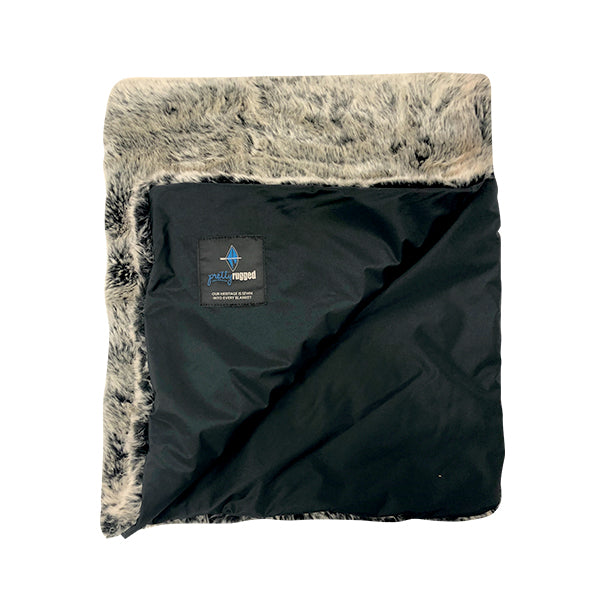 Silver Fox Faux Fur Toddler Blanket