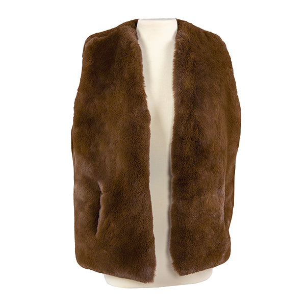 The TS Chocolate Brown Faux Fur Vest