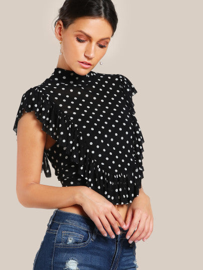 Laura Polka Dotted Top