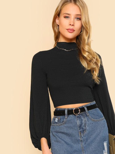 Dory Bell Sleeved Crop Top