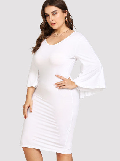 Alice Plus Size White Dress