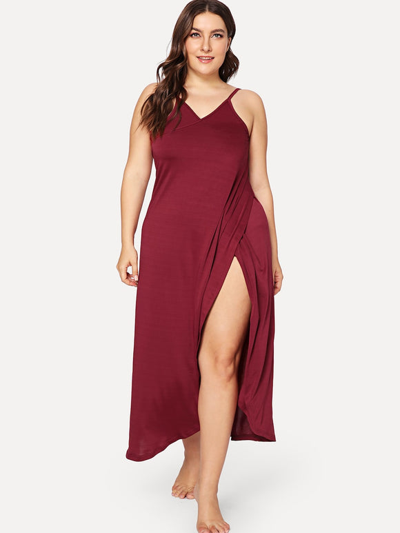 Laura Red Classy Plus Size Dress