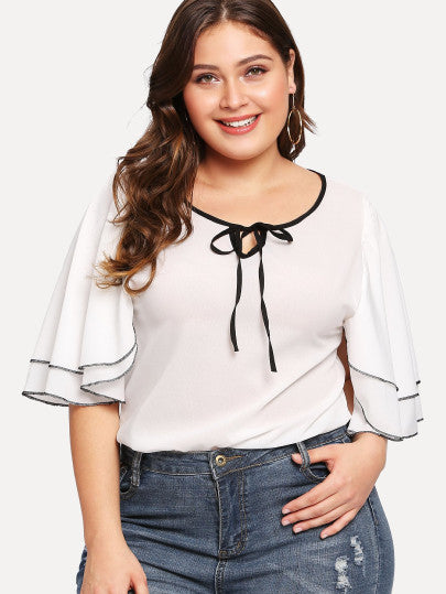 Milan Plus SIze Knotted Blouse