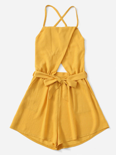 Georgina Yellow Romper