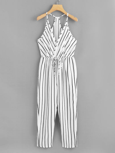Ulisses White Striped Romper