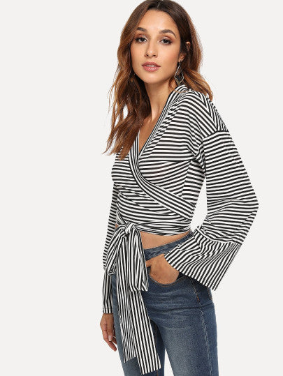 Fara Knotted Stripe Top