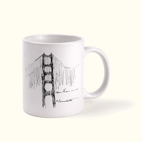 Golden Gate Bridge Sketch Mug