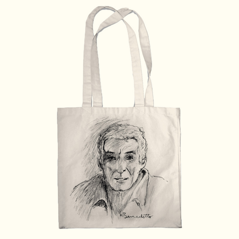 Tony Self-Portrait Sketch Tote Bag