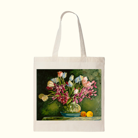 Flowers In Vase Tote Bag