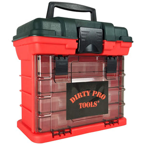 Utility Diy Storage Tool Box Carry Case 4 Drawers Organiser Dividers