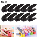 10pcs Adjustable Shoe Organizer for Closets and Cabinets