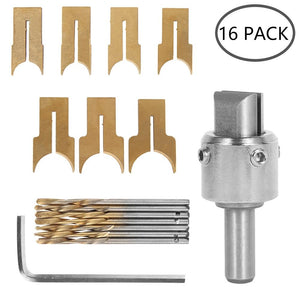One Set in 16Pcs Wooden Ball Drill Bit Set