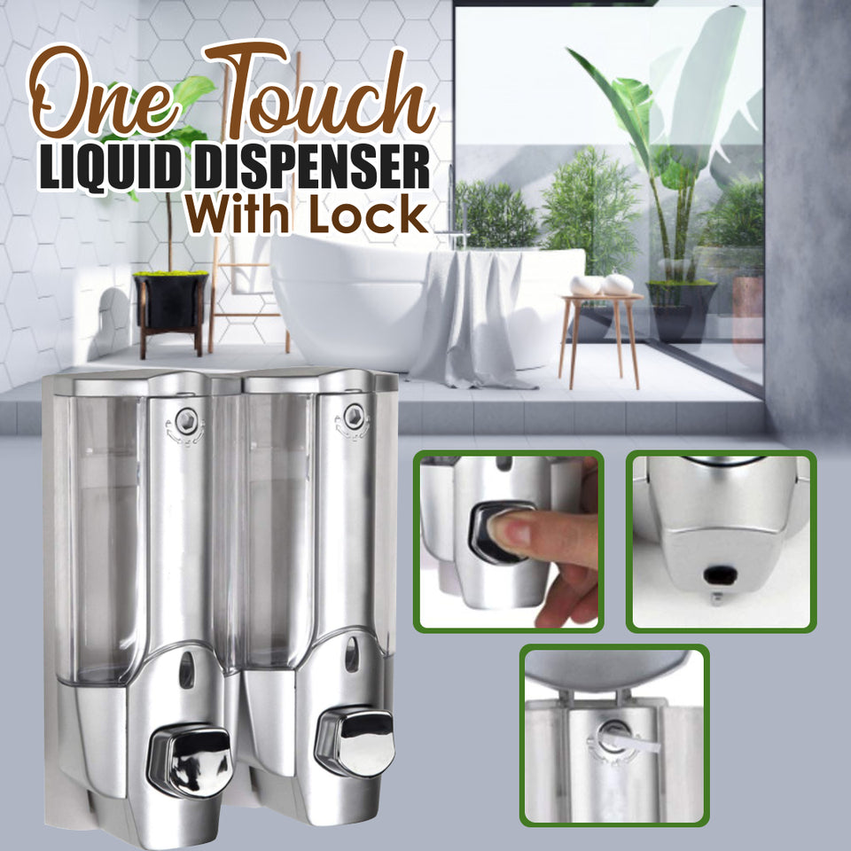 One Touch Liquid Dispenser With Lock | Viondeals