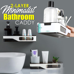 2-Layer Minimalist Bathroom Caddy | Viondeals