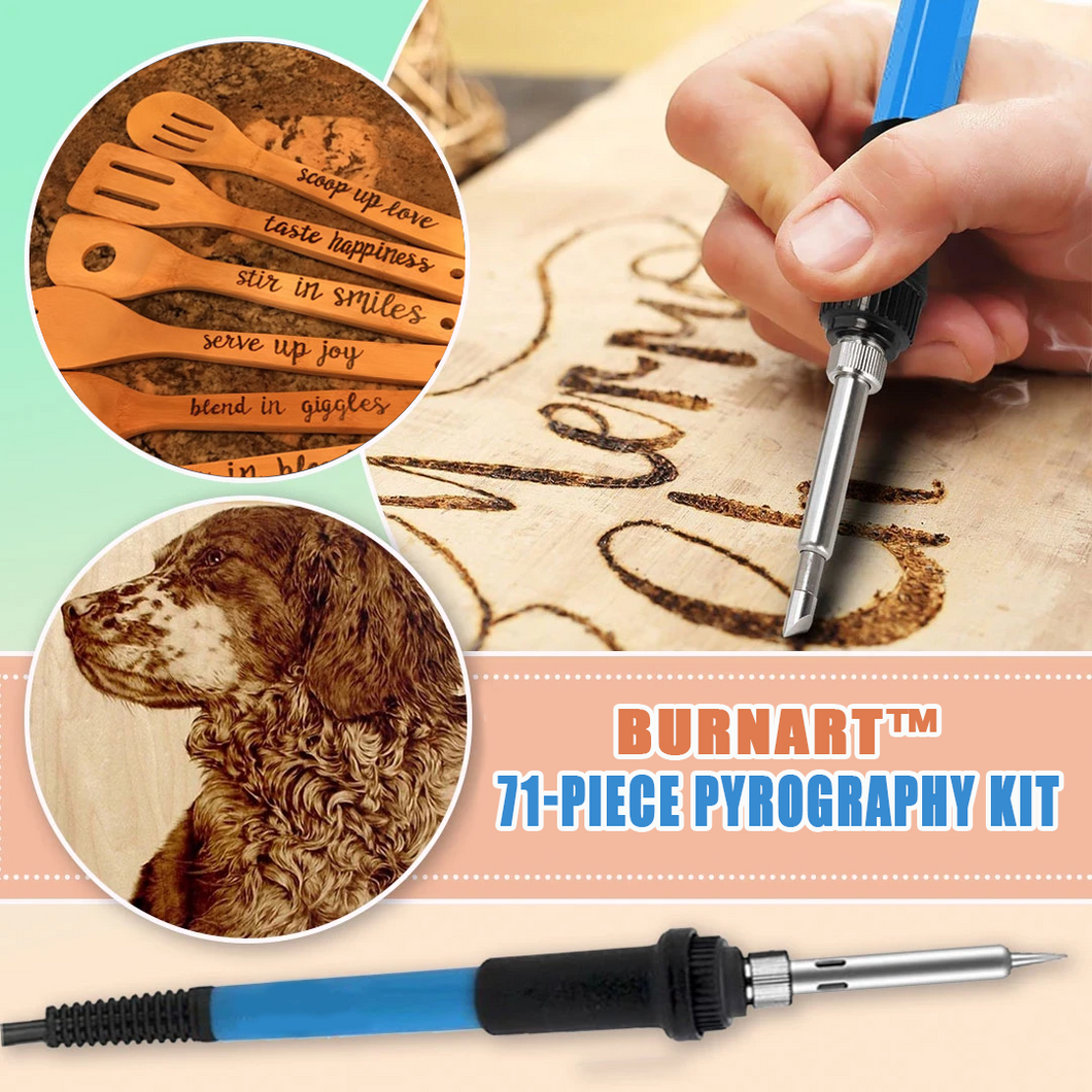 BurnArt™ 71-Piece Pyrography Kit 🔥 HOT DEAL 41% OFF TODAY!