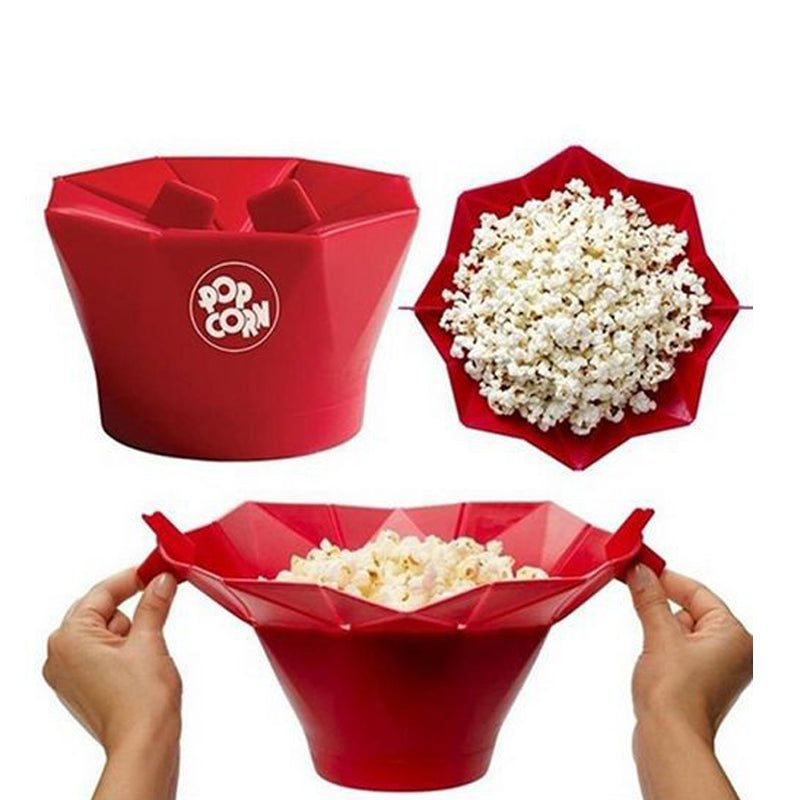 Pop-top Foldable Microwave Popcorn Maker Bowl and Bucket popcorn popper microwave popcorn popper popcorn bowl popcorn bucket corn popper microwave popcorn bowl