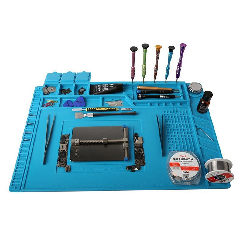 Heat Insulation Partitioned Soldering Station Mat