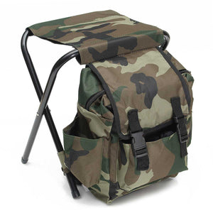 Portable Folding Outdoors Wear-resistant Backpack Chair